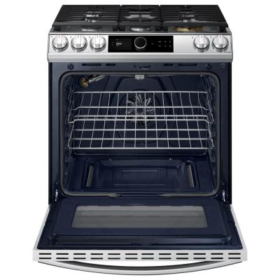 30 in. 6 cu. ft. Slide-In Gas Range with Smart Dial and Air Fry in Fingerprint Resistant Stainless Steel