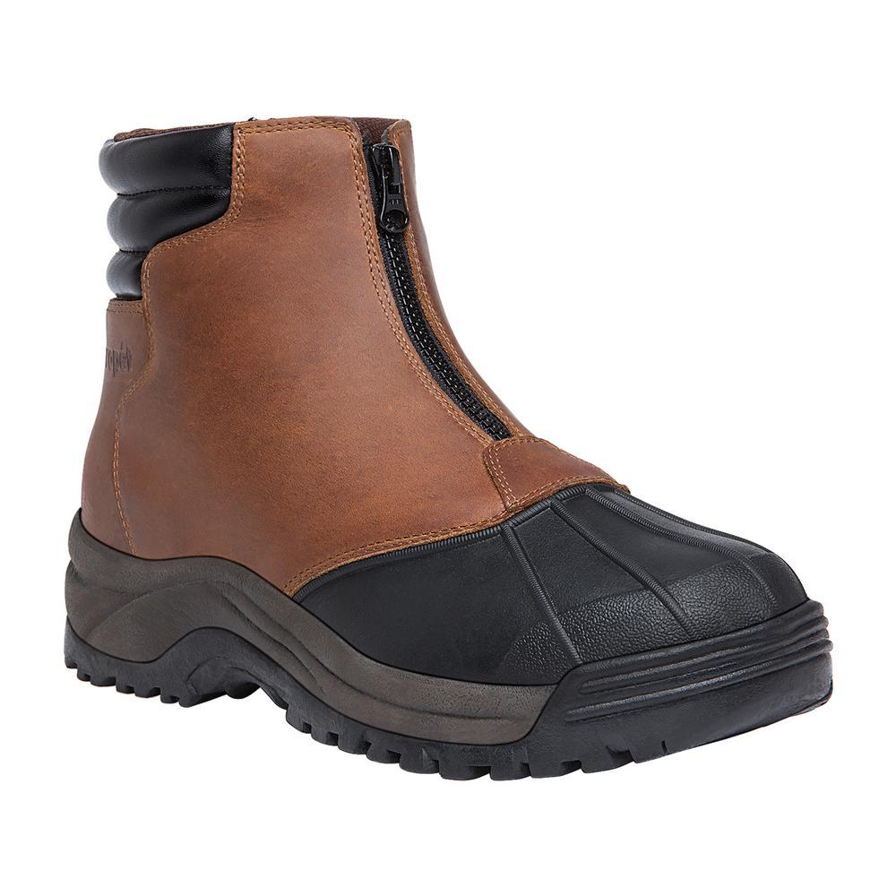 Brown/Black Leather Waterproof Winter