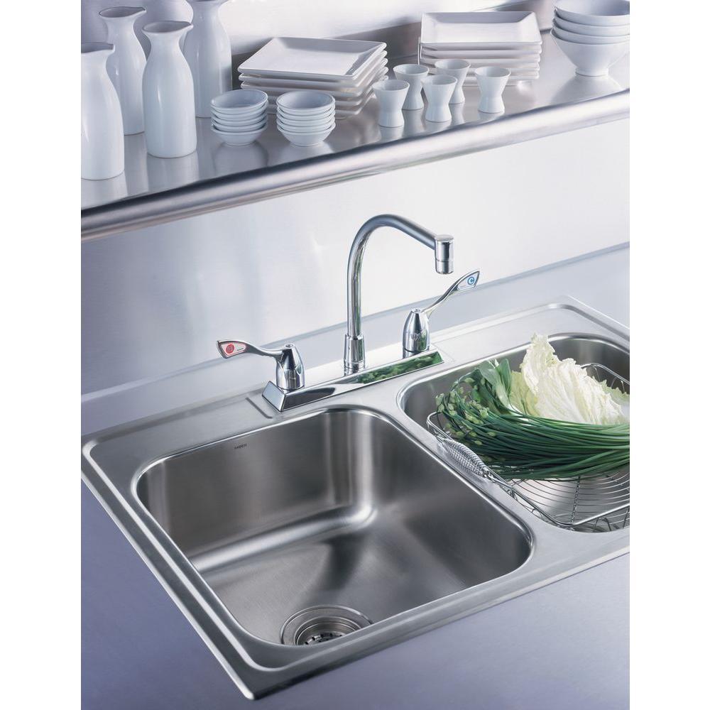 M-Bition 2-Handle High-Arc Standard Kitchen Faucet in Chrome