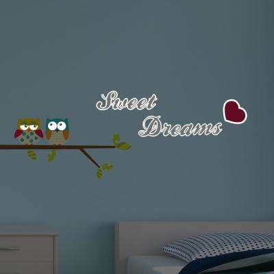55.2 in. x 12.3 in. Multi-Color Sweet Dreams Glow in the Dark Wall Decal Set