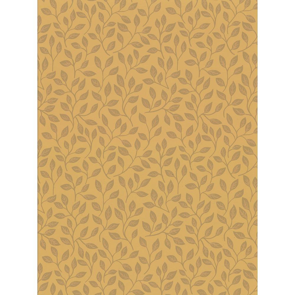 Posey Mustard Vines Wallpaper