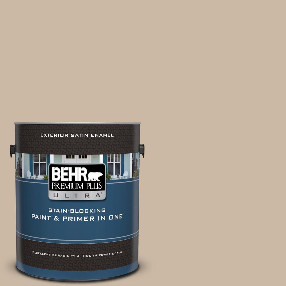 1 gal. Home Decorators Collection #HDC-SM16-09 Sail Grey Satin Enamel Exterior Paint & Primer