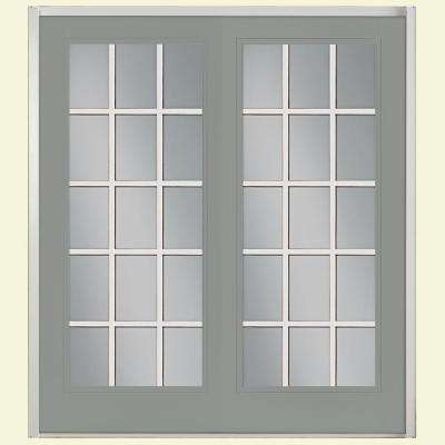 Prehung 15 Lite Steel Patio Door ...
