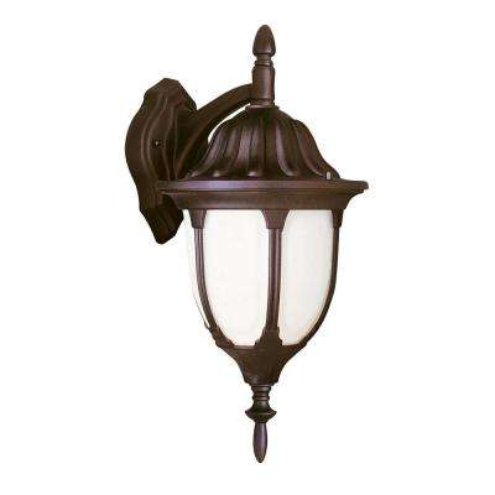 Hamilton 1-Light Rust Outdoor Wall Mount Lantern