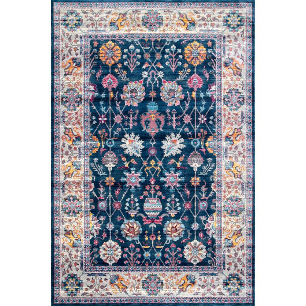 Nuloom Classic Tinted Floral Blue 5 Ft X 8 Ft Area Rug Rzdr02d 53077 The Home Depot