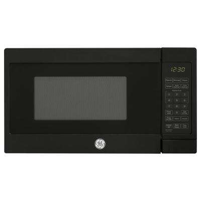 0.7 cu. ft. Small Countertop Microwave in Black