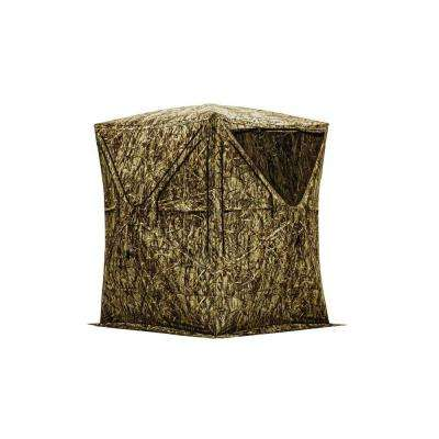 Big Mike Ground Blind in Blood Trail Blades Camo
