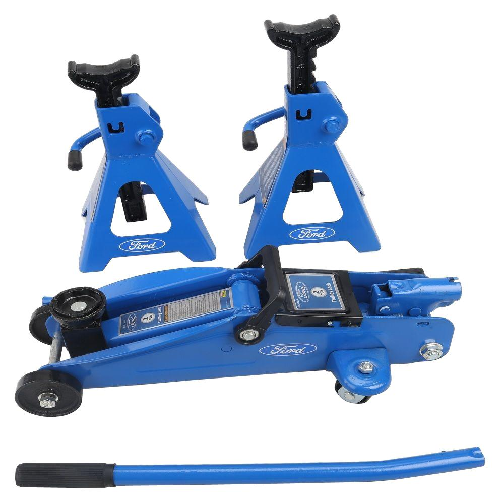 Electronic Specialties 2 Ton Trolley Jack Stand Set Fmcf0008 The
