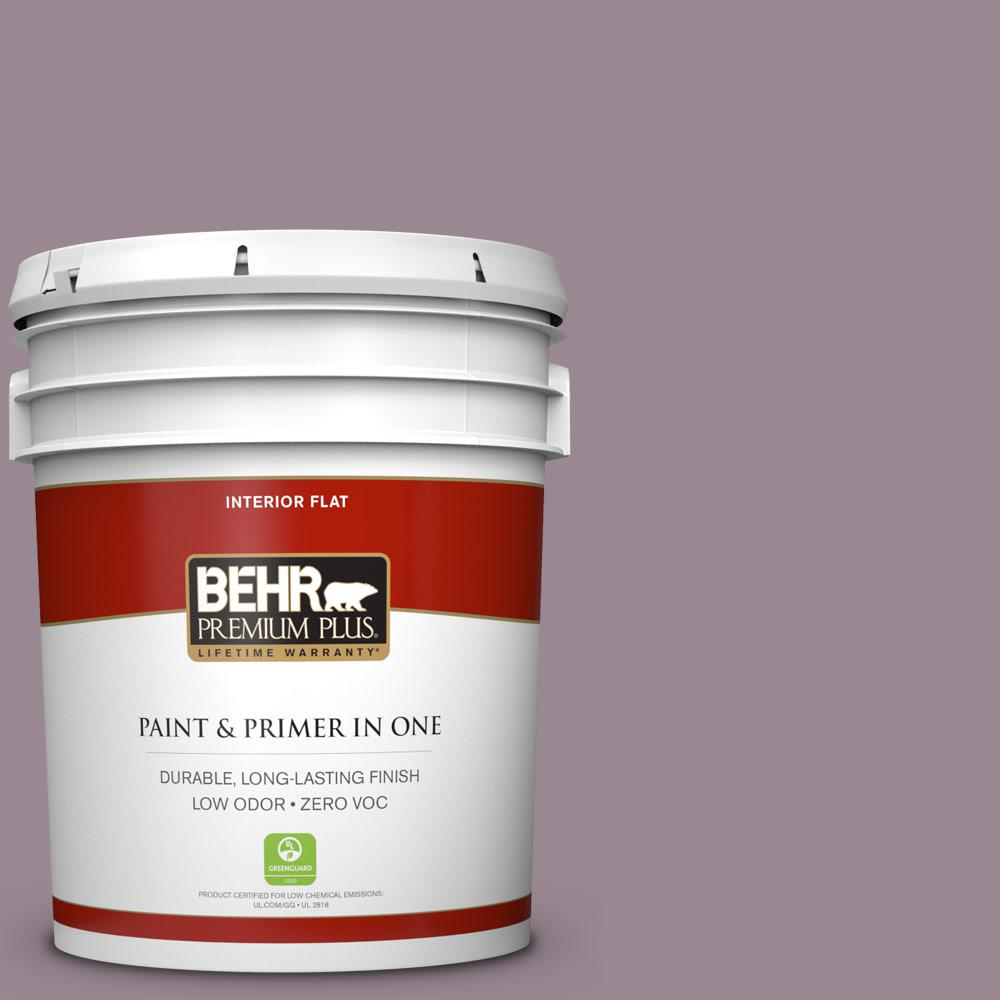 5 gal. #690F-5 Purple Mauve Zero VOC Flat Interior Paint