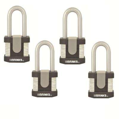 50 mm Commercial Padlock Laminated Steel (4 Pack)
