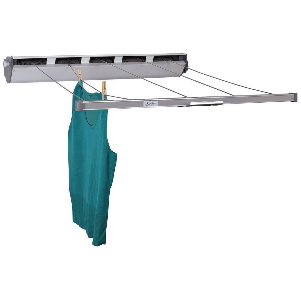 Retractable 5-Line Aluminum Laundry Clothesline
