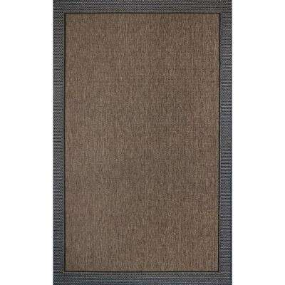 Savannah Black and Havava 8 ft. x 10 ft. Indoor/Outdoor Area Rug