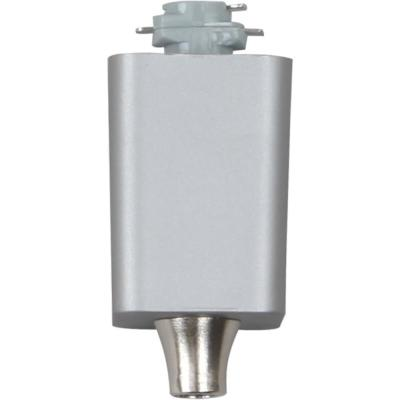 Silver Gray Pendant Track Adapter for 120-Volt 1-Circuit/1-Neutral or 120-Volt 2-Circuit/1-Neutral Track Systems