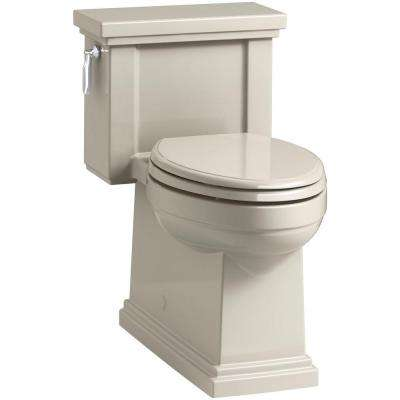 Tresham 1-piece 1.28 GPF Single Flush Elongated Toilet in Sandbar