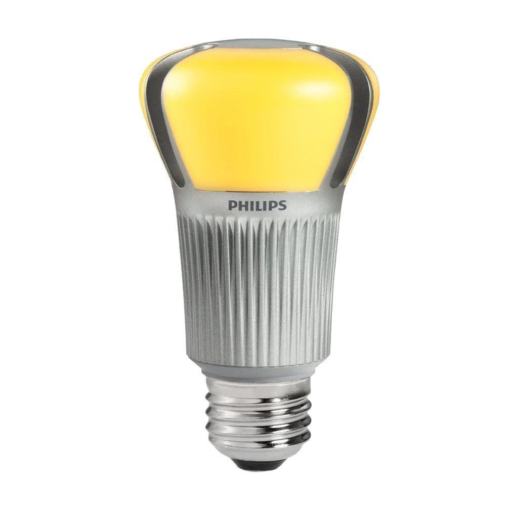 Philips 60W Equivalent Soft White (2700K) A19 Dimmable LED Light Bulb (4-Pack) (E)*