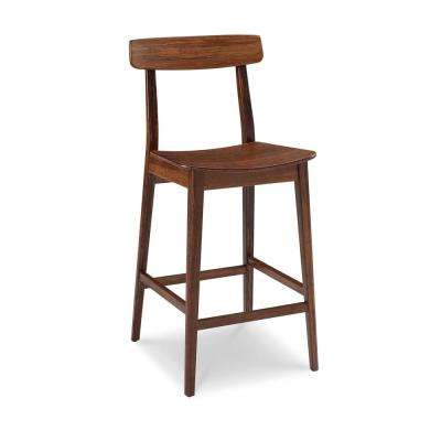Currant 30 In. Exotic 100% Solid Bamboo Bar Stool With Back ...