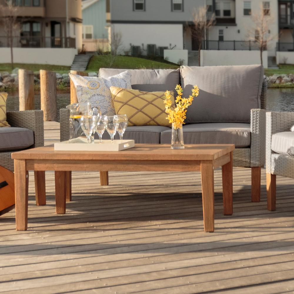 Wicker Patio Conversation Set with Gray Cushion