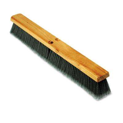 24 in. Gray Flagged Polypropylene Push Floor Brush Head