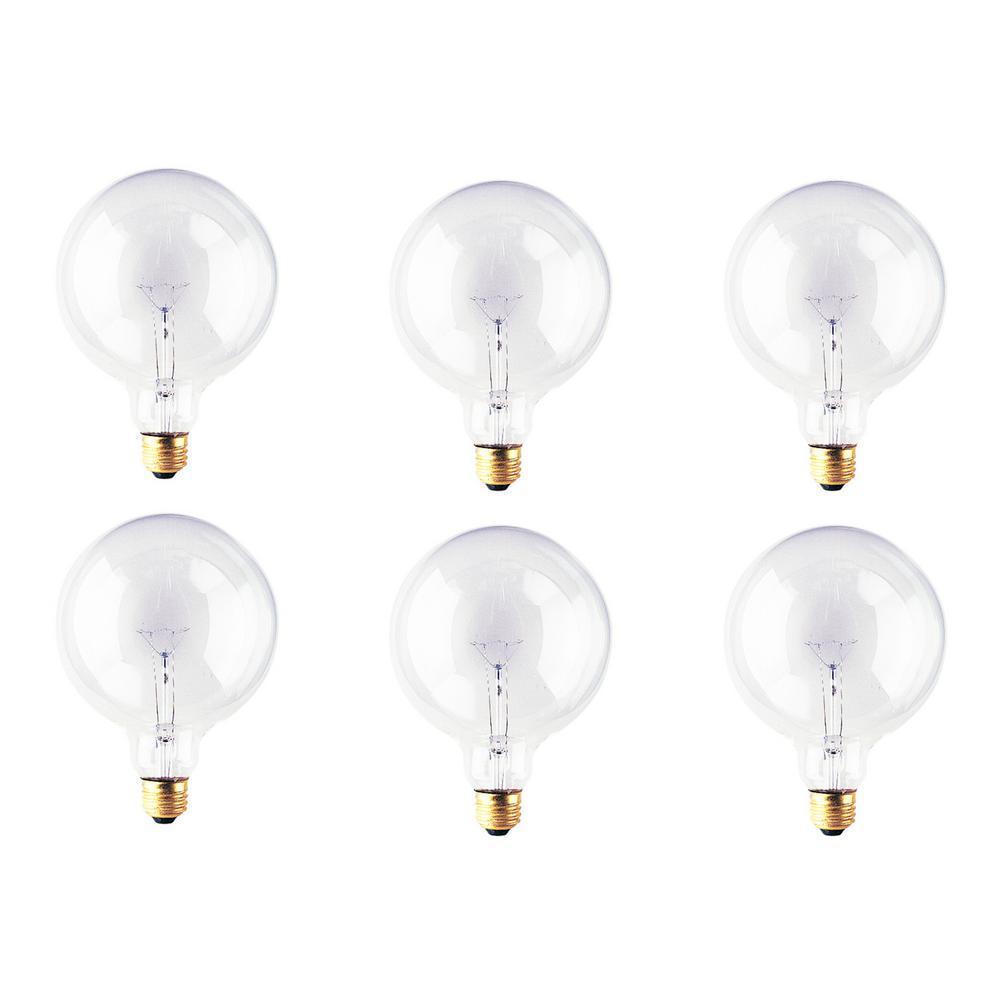 25-Watt G40 Clear Dimmable Warm White Light Incandescent Light Bulb (12-Pack)