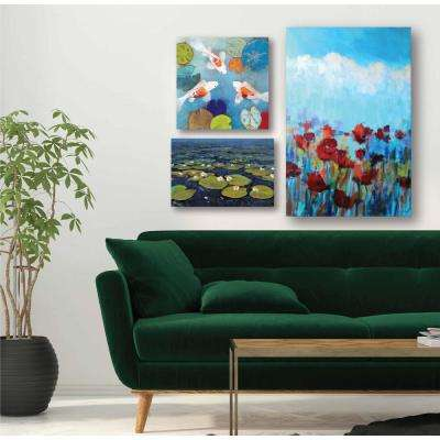 """Water Lilies Gallery Wall Collection"" Printed Wall Art (3-Piece)"