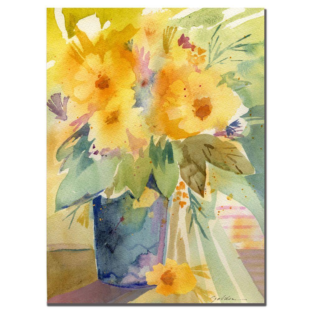 18 in. x 24 in. Bouquet in Yellow Canvas Art