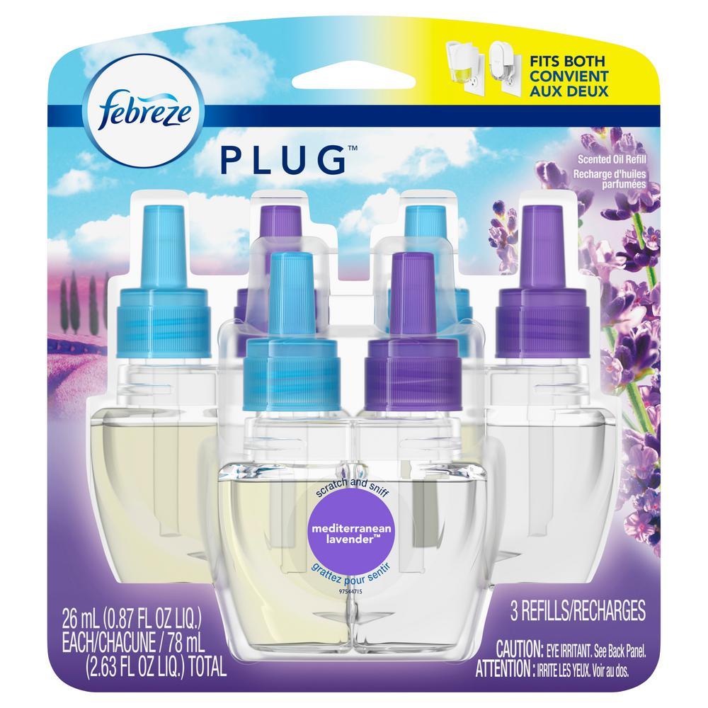Febreze Plug Triple Refill Mediterranean Lavender - 2.63oz