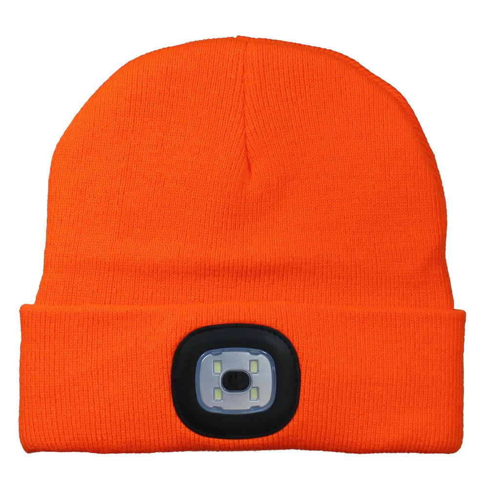 LED Light Up Beanie – Orange