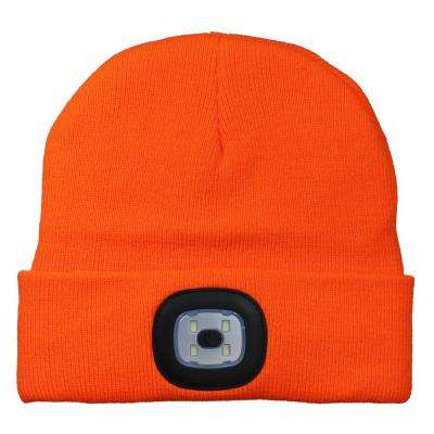 Orange LED Light Up Beanie