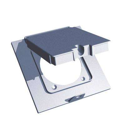 2 Gang 2.25 in. Weatherproof Device Mount Cover - Silver (Case of 4)