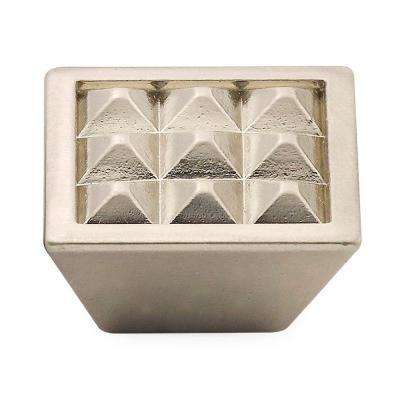 1.5 in. Satin Nickel Pyramids Knob