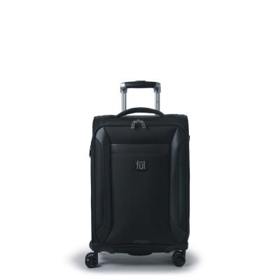 Heritage Classic 22 in. Black Soft-Sided Luggage Spinner