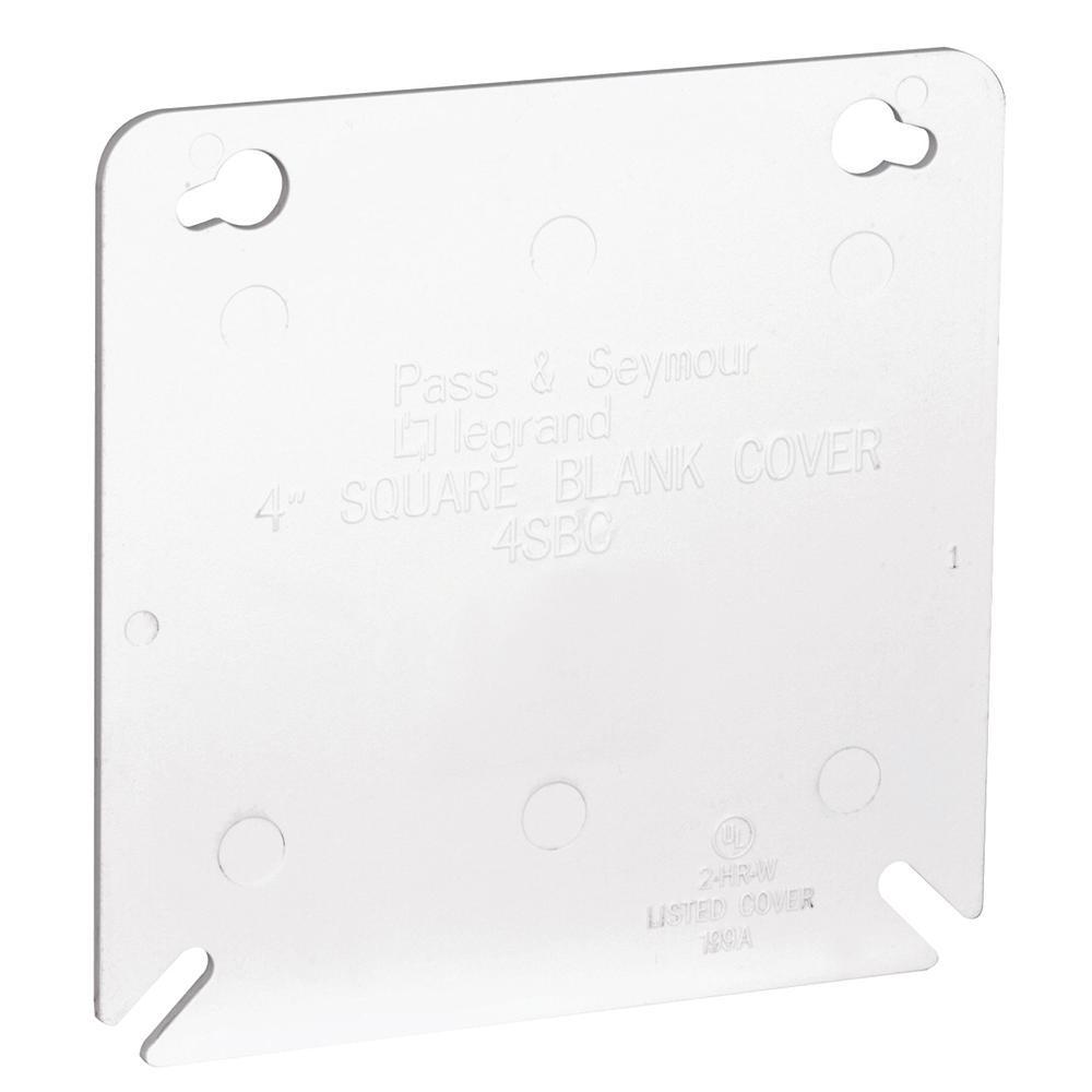 Slater 4 in. Plastic White Square Box Cover