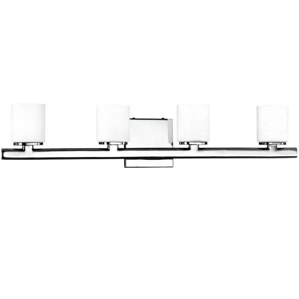 Eurofase Marond Collection 4-Light Chrome Wall Bath Bar Light