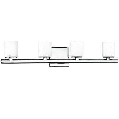 Marond Collection 4-Light Chrome Wall Bath Bar Light