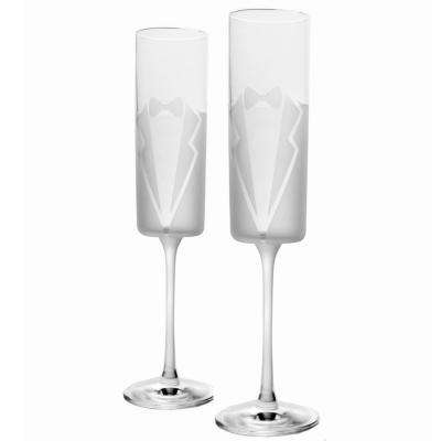 Wedding Cheers Formal (Tux/Tux) 5.75 oz. Flute (Set of 2)