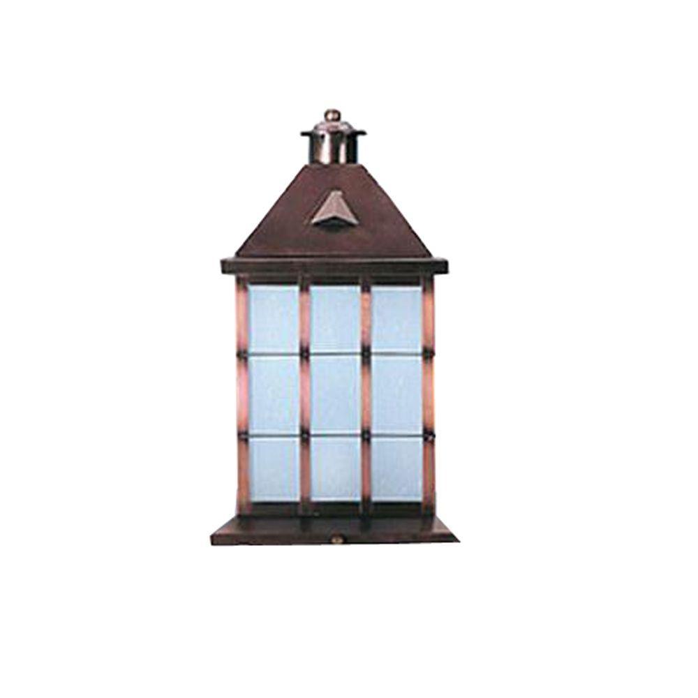 20 in. 3-Light Matte Bronze Outdoor Lantern