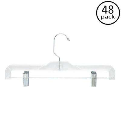 Clear Skirt and Pant Hangers (48-Pack)