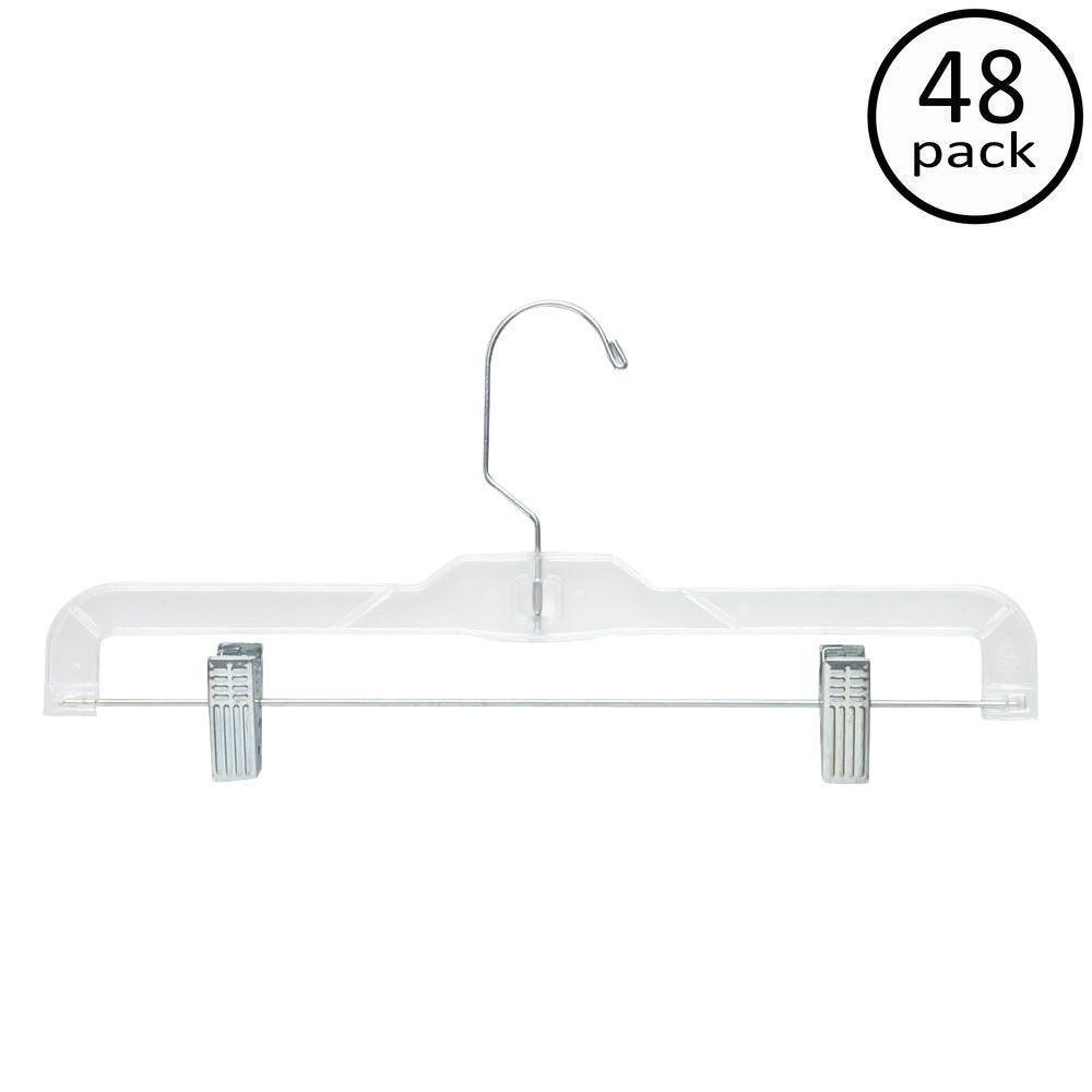 Honey-Can-Do Clear Skirt and Pant Hangers (48-Pack)