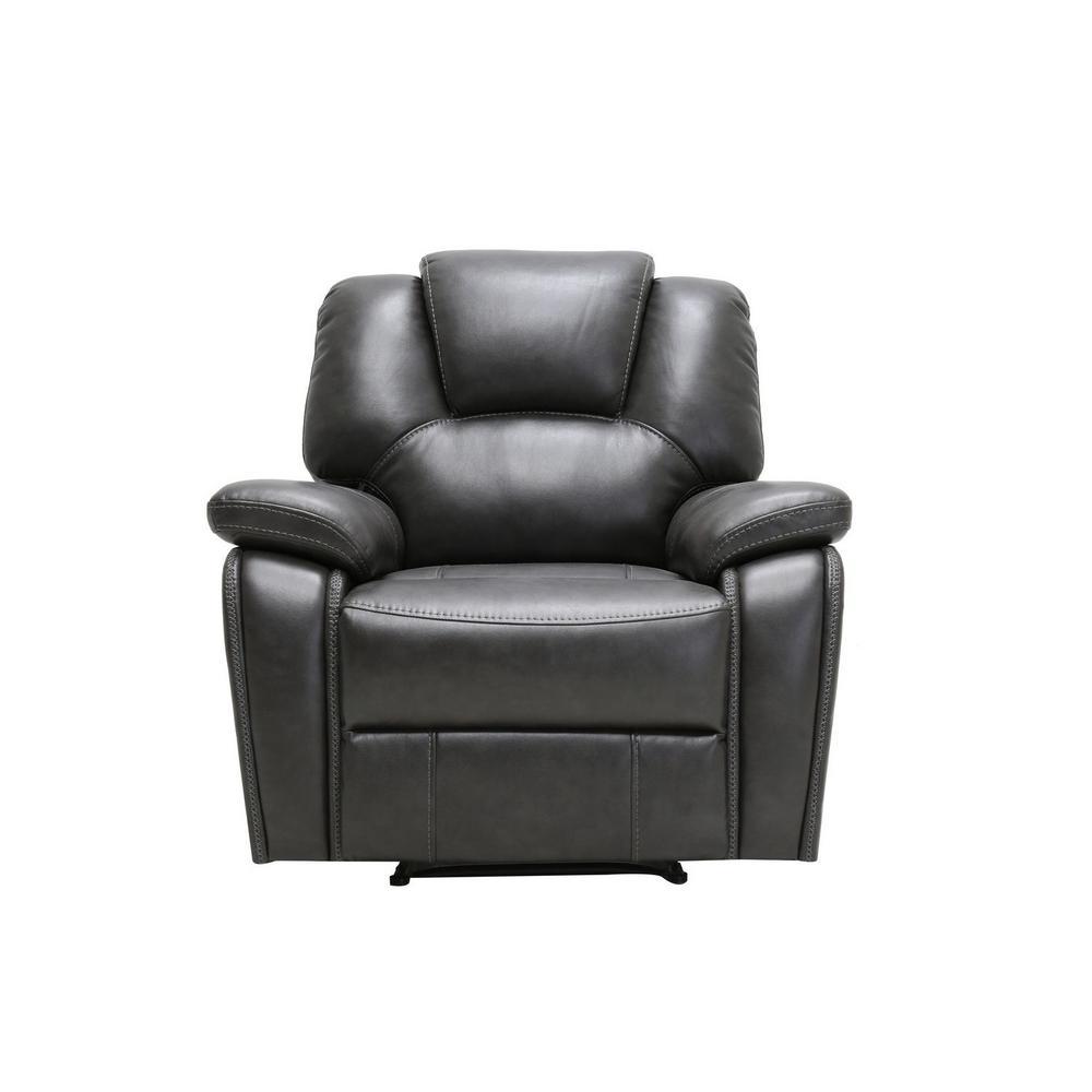 Charlie Dark Gray Leather Power Reclining Chair