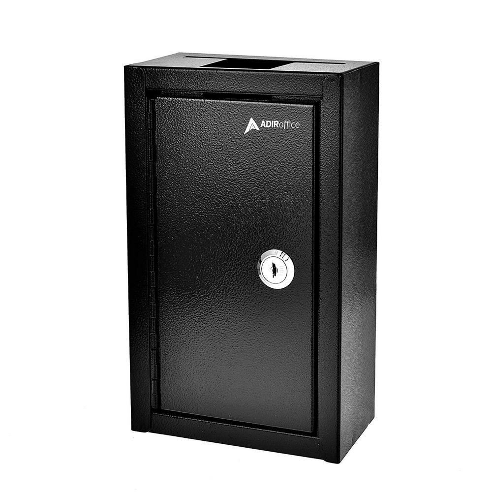 AdirOffice Black Commercial Grade Large Storage Key Drop Box