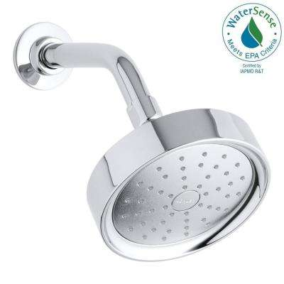 Purist 1-Spray Single Function 5.5 in. Raincan Katalyst Air Induction Spray Showerhead in Polished Chrome