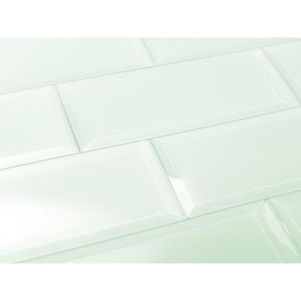 ABOLOS Subway 3 in. x 12 in. Rectangle Green Beveled Matte