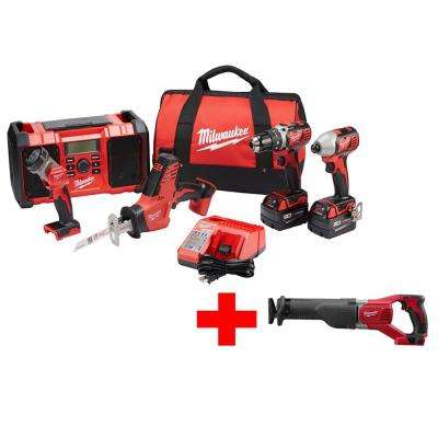 M18 18-Volt Lithium-Ion Cordless Combo Kit (5-Tool) with Free M18 Sawzall
