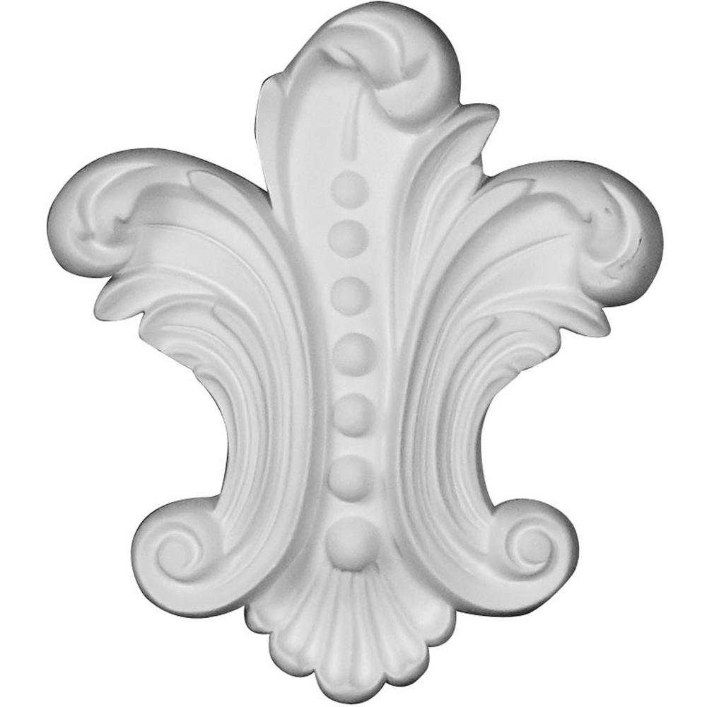 1 in. x 4-5/8 in. x 5-3/8 in. Applique Polyurethane Beaded