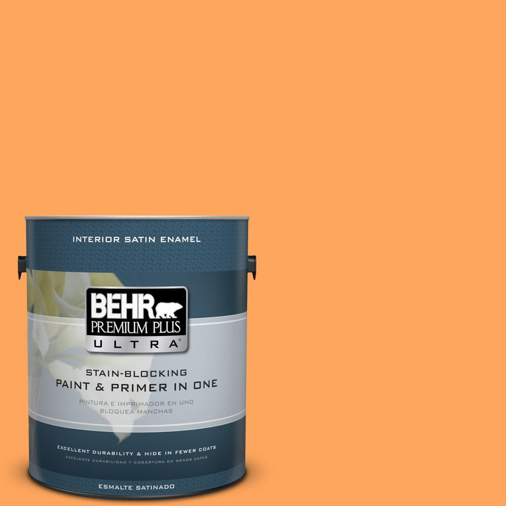 BEHR Premium Plus Ultra 1-gal. #270B-5 Melon Satin Enamel Interior Paint