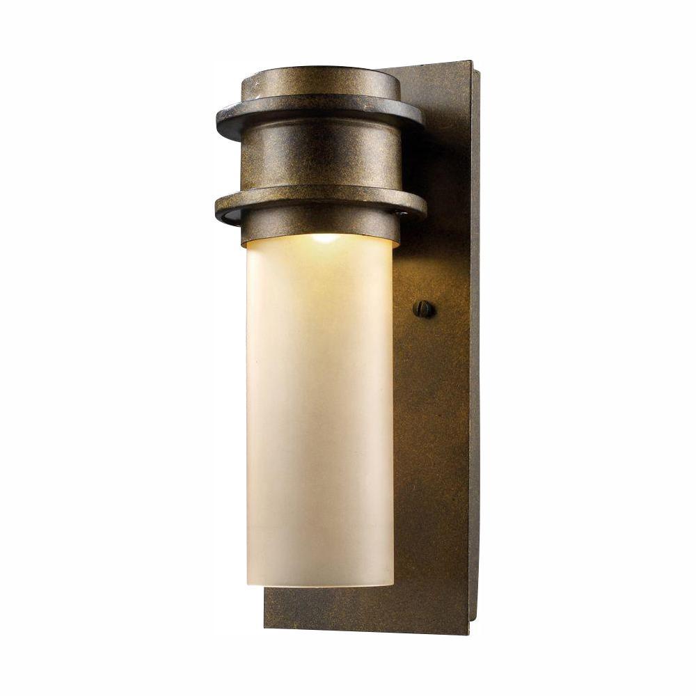 Titan Lighting Freeport Hazelnut Bronze Outdoor LED Wall Barn Light Sconce