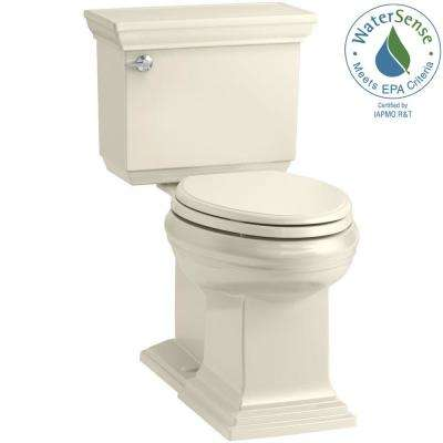 Memoirs 2-piece 1.28 GPF Single Flush Elongated Toilet in Almond