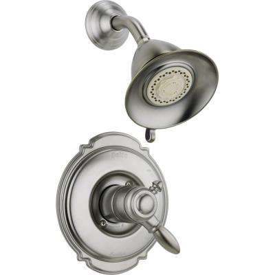Victorian 1-Handle Shower Only Faucet Trim Kit in Stainless (Valve Not Included)