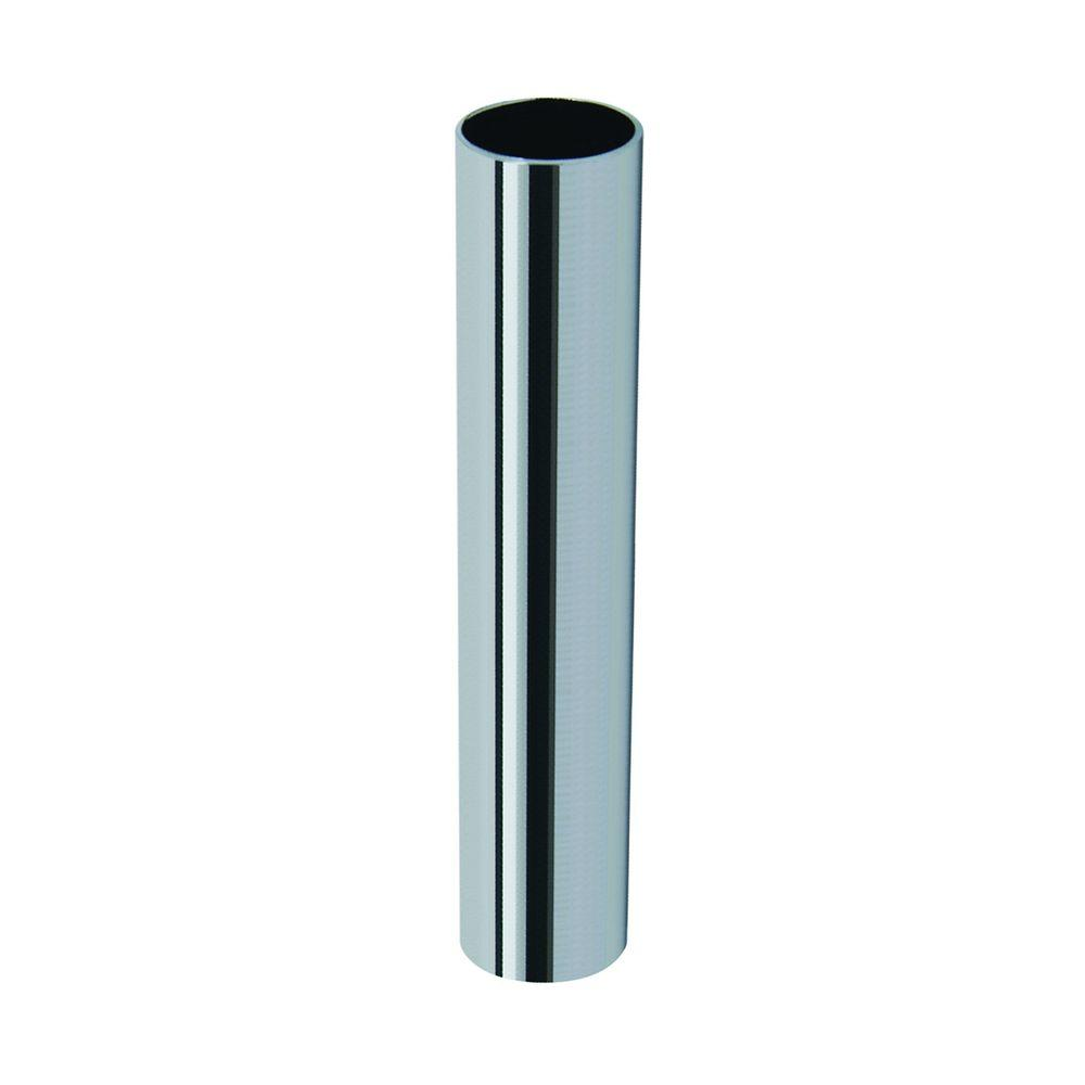 Brasscraft 3 1 2 In L Chrome Plated Brass Cover Tube For