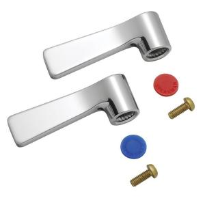 Commander Lever Handle Set in Polished Chrome